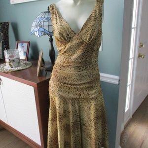 Betsey Johnson Gold Sparkle Dress Medium